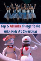 The top things to do at christmas-time in atlanta with kids include outdoor light displays, a new nutcracker, awesome puppet shows and much more. Plus, where to stay near the fun. #atlanta #georgia #kids #families #thingstodo #christmas #hotels #ideas #weekend #staycation